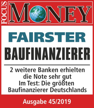 Fairster Baufinanzierer laut Magazin Focus Money